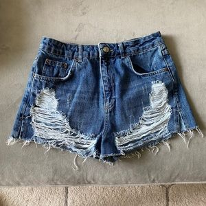 TOPSHOP Super Ripped Mom Shorts